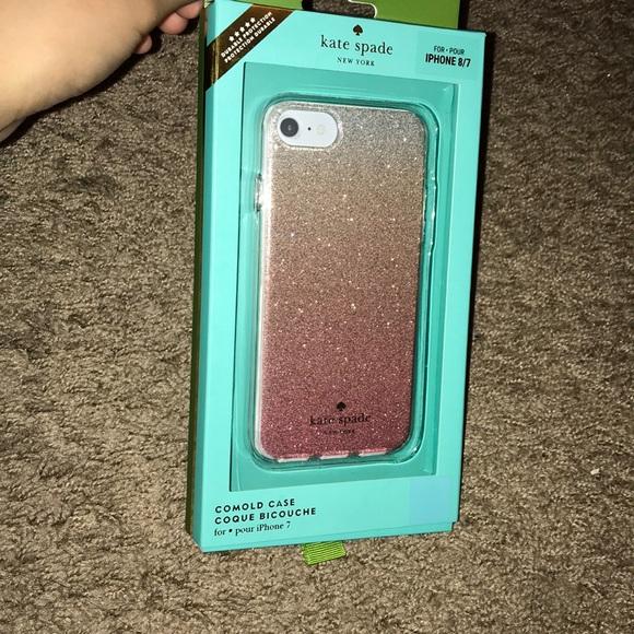 timeless design 76b6a c7b4b Kate Spade Pink Glitter Ombre iPhone Case NWT